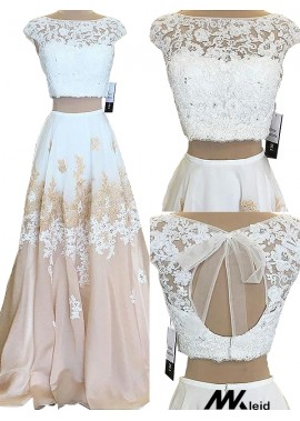 Mkleid Two Piece Long Prom Evening Dress T801524703811