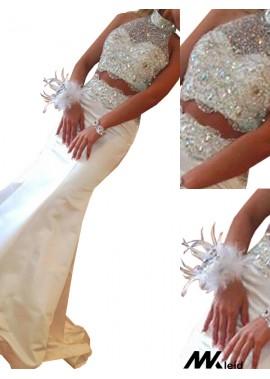 Mkleid Two Piece Long Mermaid Long Prom Evening Dress T801524703936