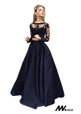 Mkleid Lace Black Long Prom Evening Dress T801524703566