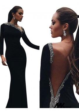 Mkleid Black Mermaid Long Evening Dress T801524703948