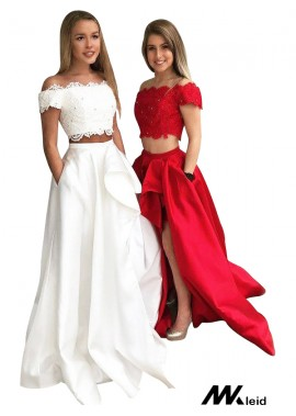 Mkleid Two Piece Long Prom Evening Dress T801524703851