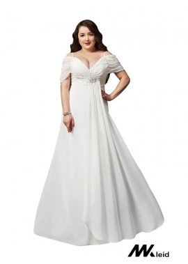Mkleid White Long Plus Size Prom Evening Dress T801524704103