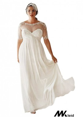Mkleid Simple Plus Size Wedding Dress T801525317649